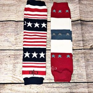 Red White and Blue Baby Leg Warmers